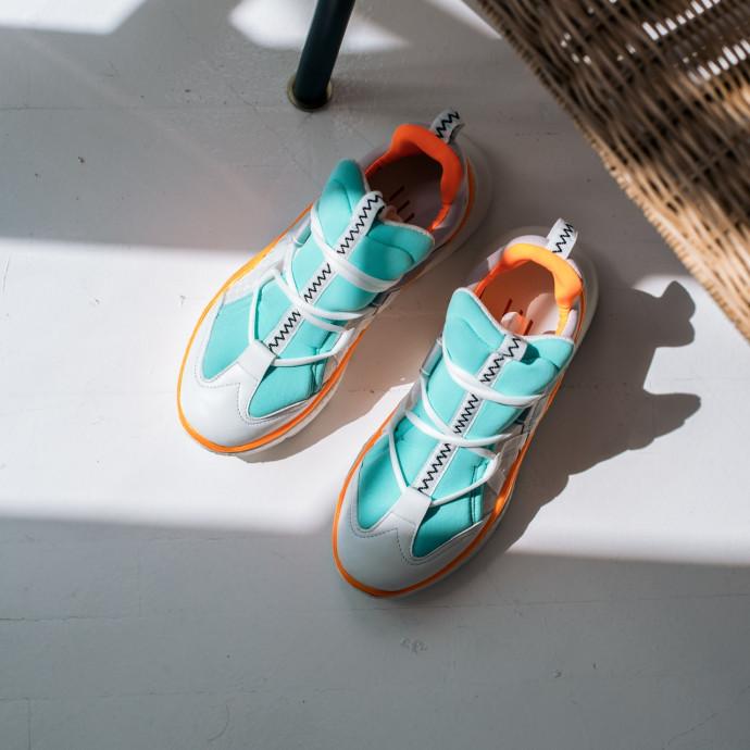 Кожаные кроссовки Barracuda