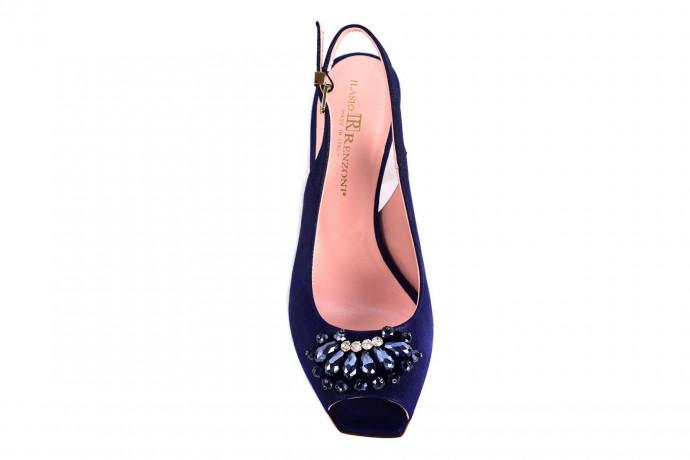 Замшевые босоножки на каблуке Renzoni Ilasio
